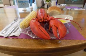 Residents enjoy a yearly Lobster Feed