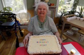 Residents are given personal Birthday Cakes