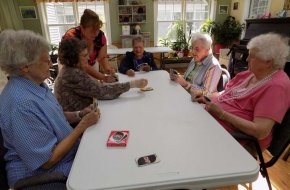 Our residents enjoy many activities, including playing cards