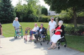 Residents enjoy each other company