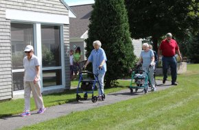 Residents enjoy walking on our paths